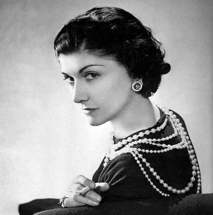 Coco Chanel and Pearls