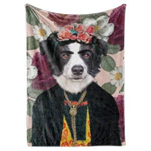Royal dog art portraits on fleece blankets
