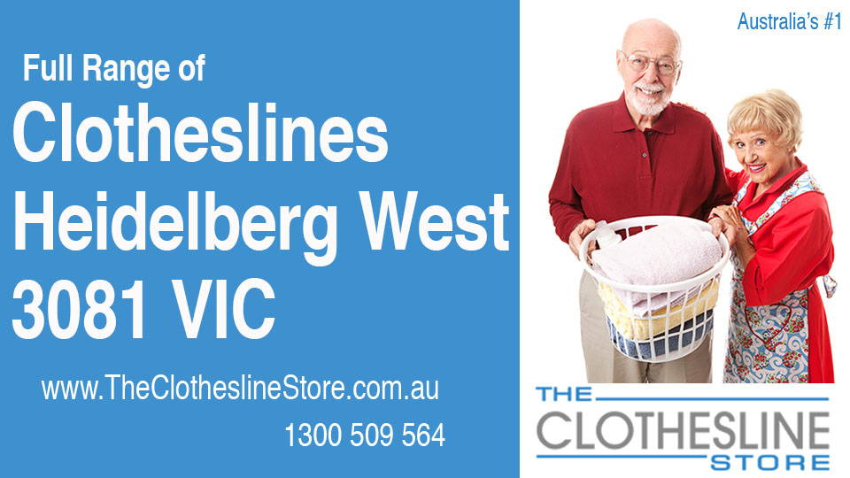 New Clotheslines in Heidelberg West Victoria 3081
