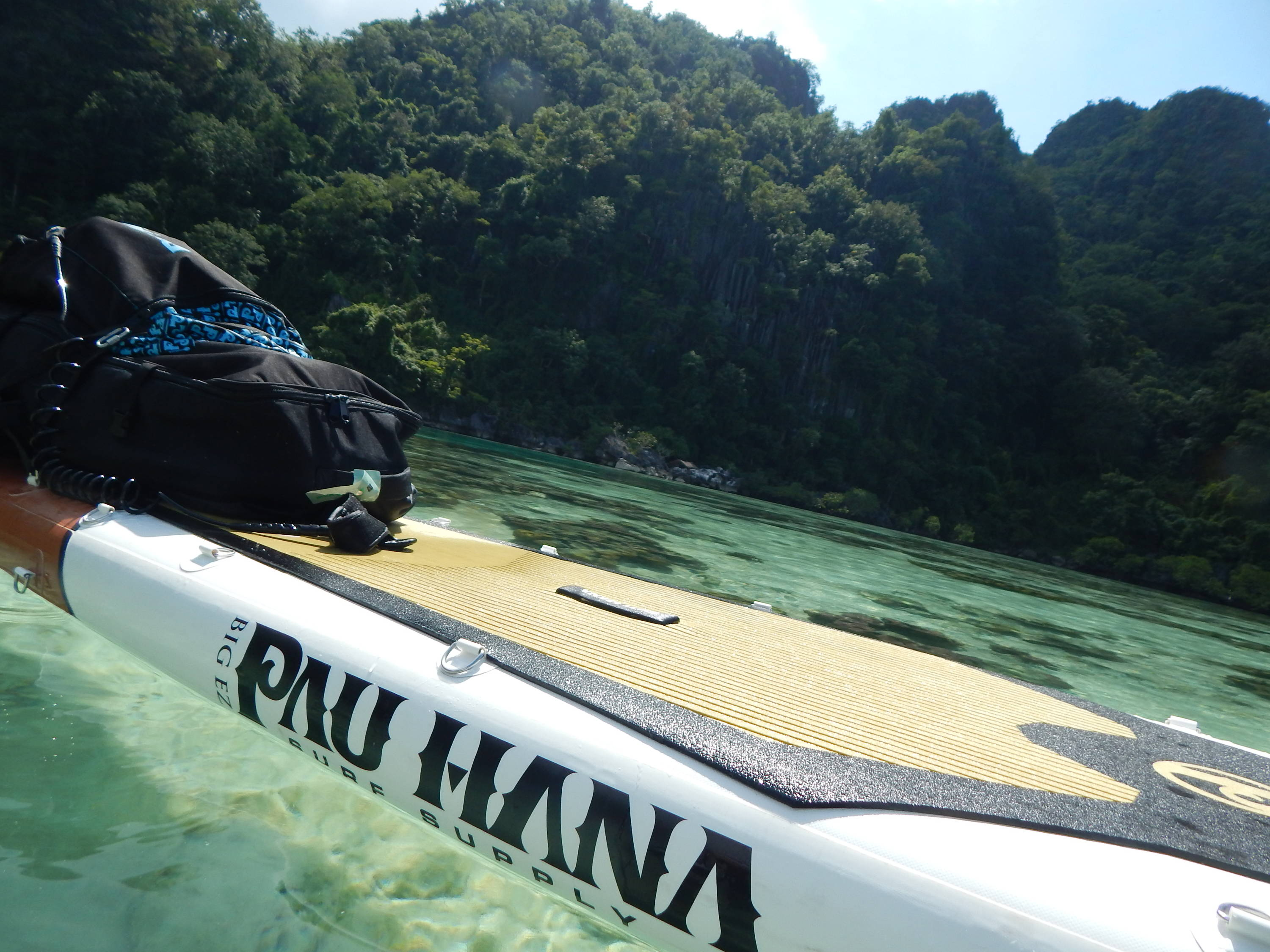 This is the best inflatable touring paddle board. Inflatable sup board close up