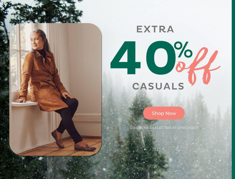 Extra 40% Off Casuals