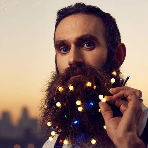 Nano LED lights on Beard