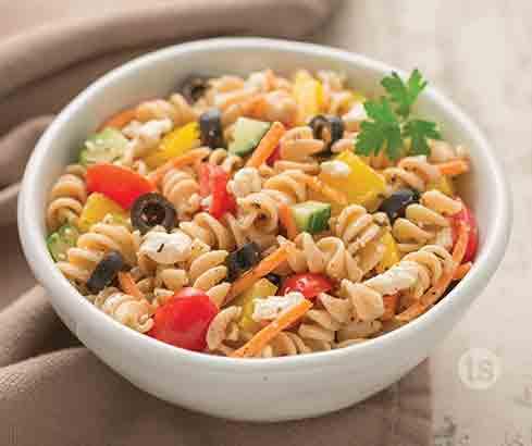 rustic veggie pasta salad