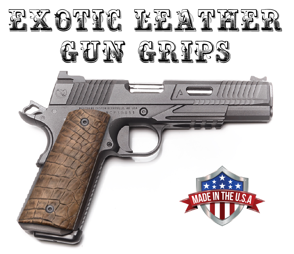 Exotic Leather Gun Grips