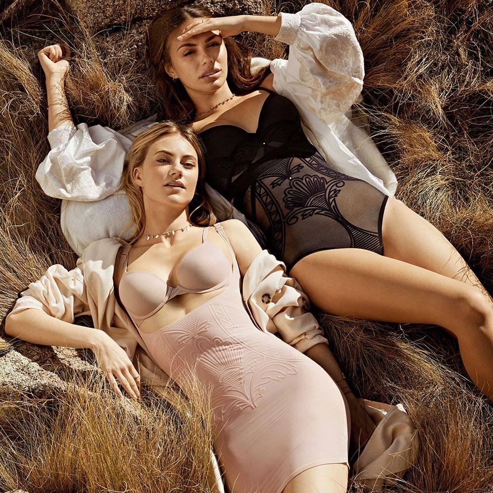 Nancy Ganz Kampagne Shapewear Mieder figurformend