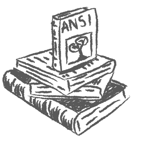 sketched drawing of Books