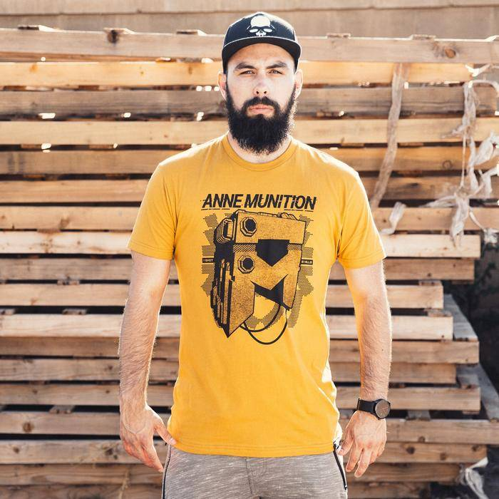 Photo of a model wearing an Anne Munition One Shot Premium Tee