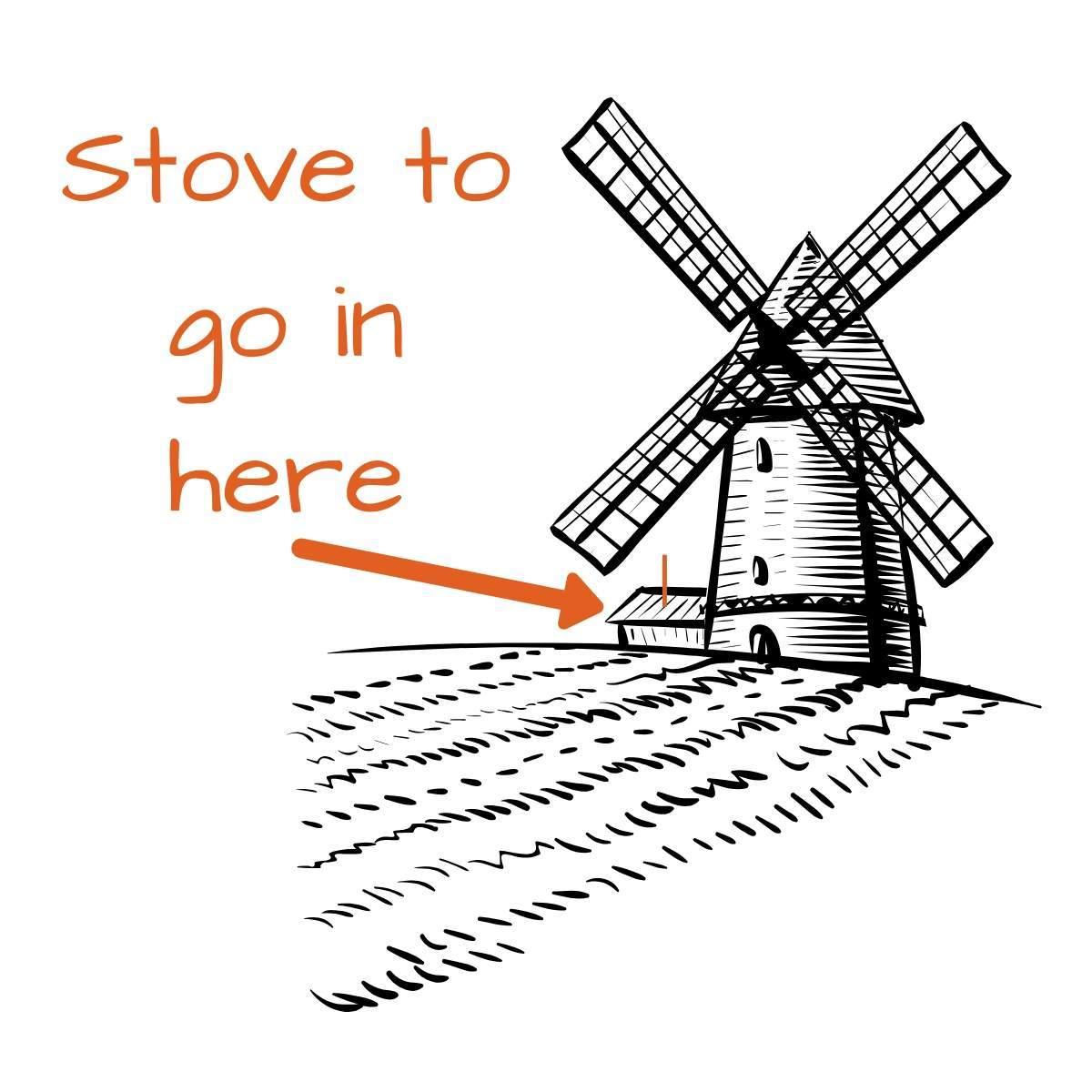 windmill drawing