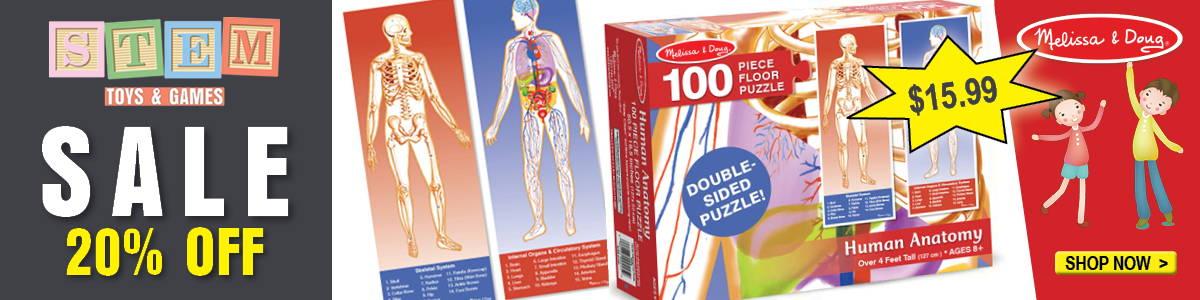 human anatomy puzzle sale banner eden shack
