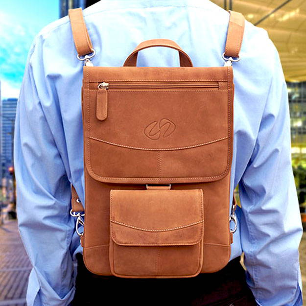 macbook pro leather backpack by maccase