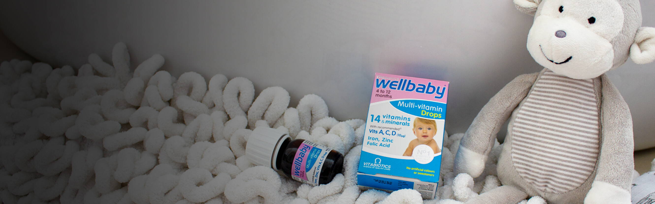From rapidly developing bones to a curious little mind, all the incredible things your little one does depends on the right nutrition. Wellbaby Multi-vitamin Drops have been formulated by our experts to includes 14 key nutrients like iron which contributes to normal cognitive development of children and Vitamin D for normal growth and development of bones.
