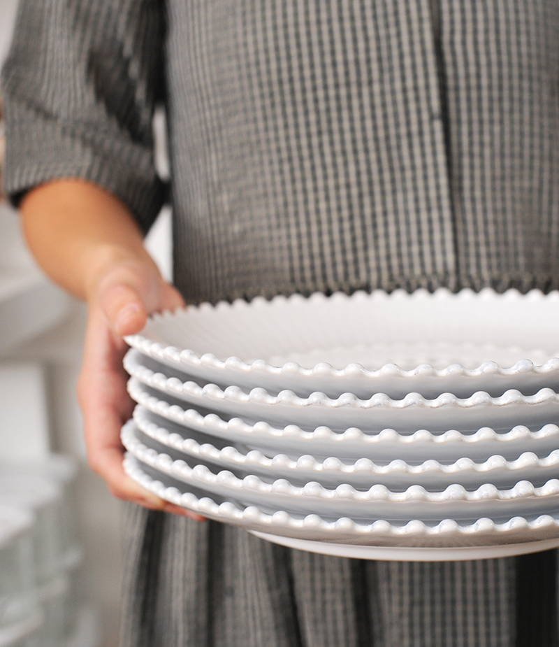 Shop the Pearl White Dinner Plate