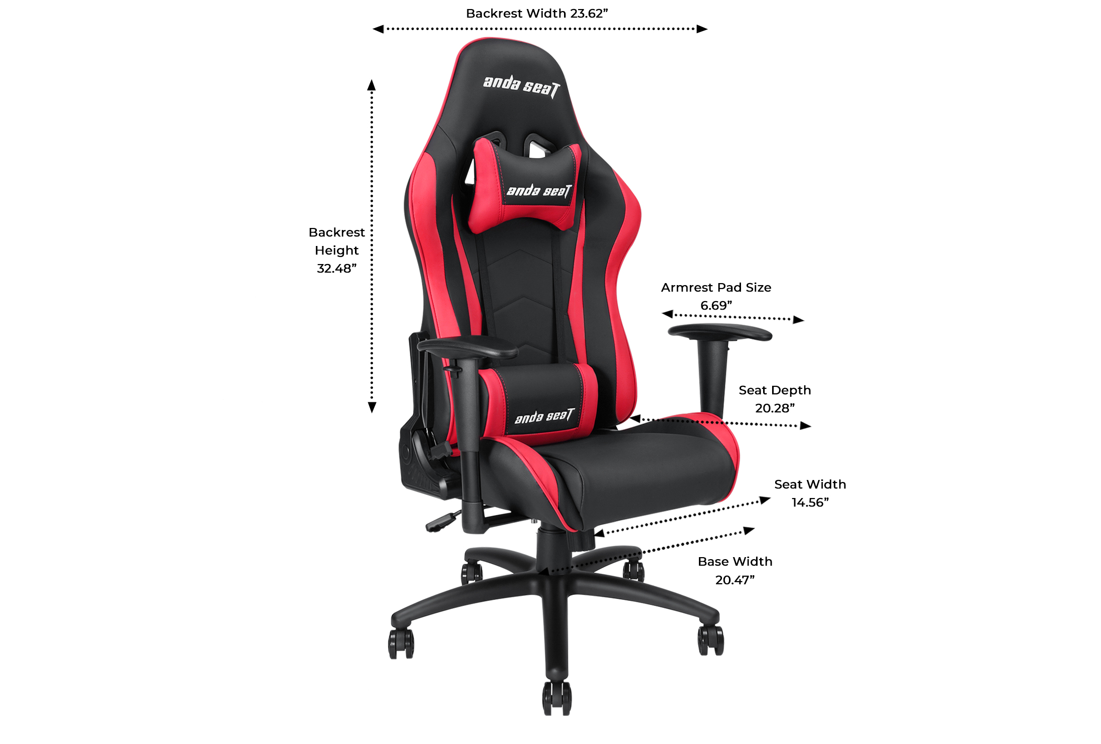 Axe gaming chair dimension
