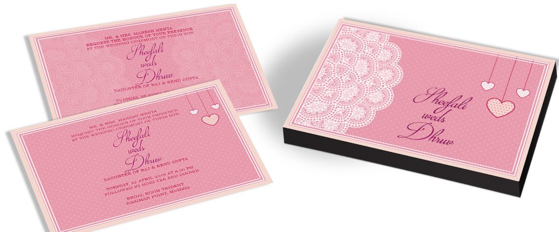 Customised Invitation for Marriage with Heart Theme