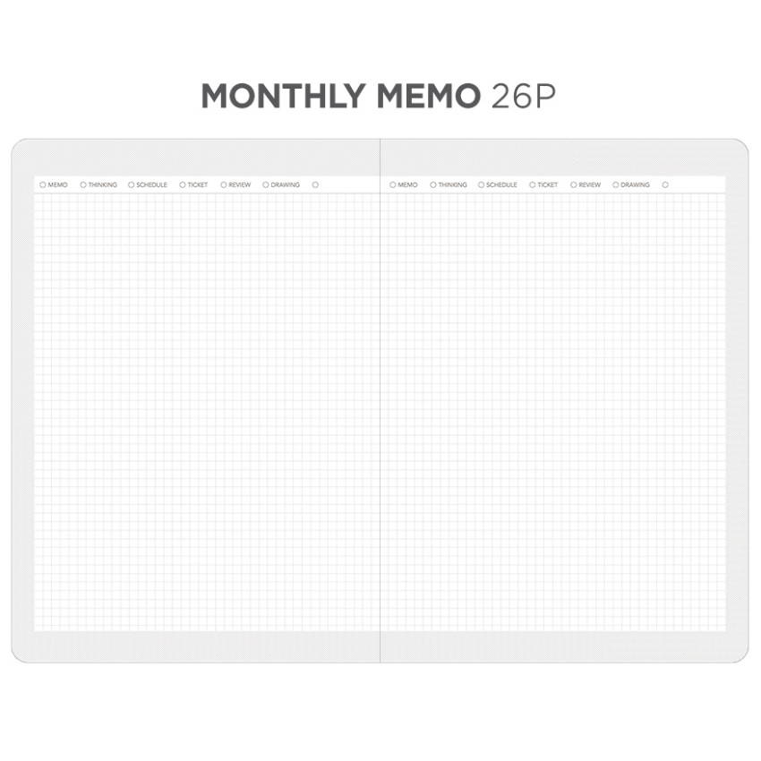 Monthly memo - After The Rain 2020 Dot your day weekly dated diary planner