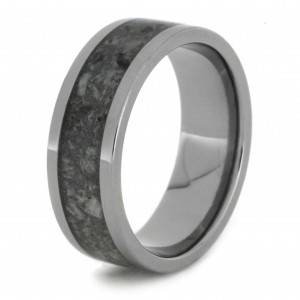 Titanium Crushed Antler Ring View 3
