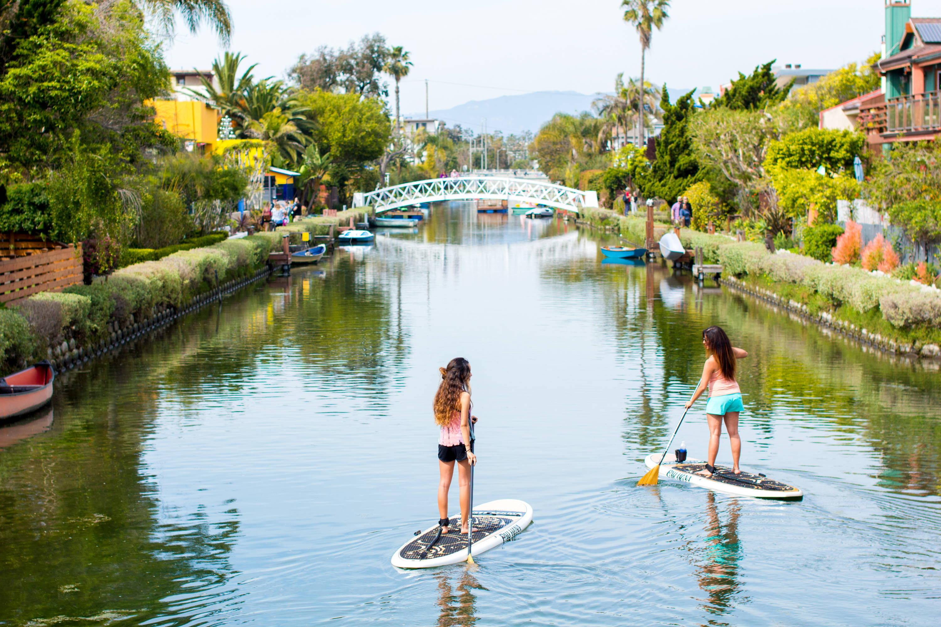 This is the best beginner paddle board. Oahu Pau Hana boards in Venice canals