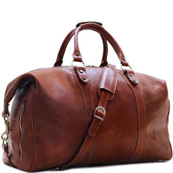 Roma Italian Leather Travel Bag