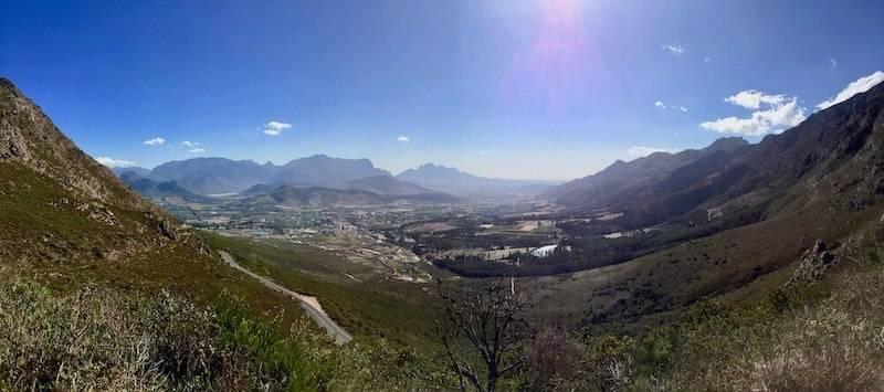 Ausblick über das Franschhoek Valley