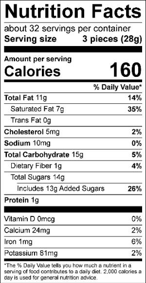 Mint Chip Truffle Nutrition Facts