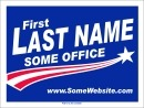 Political Campaign Sign Template #0049