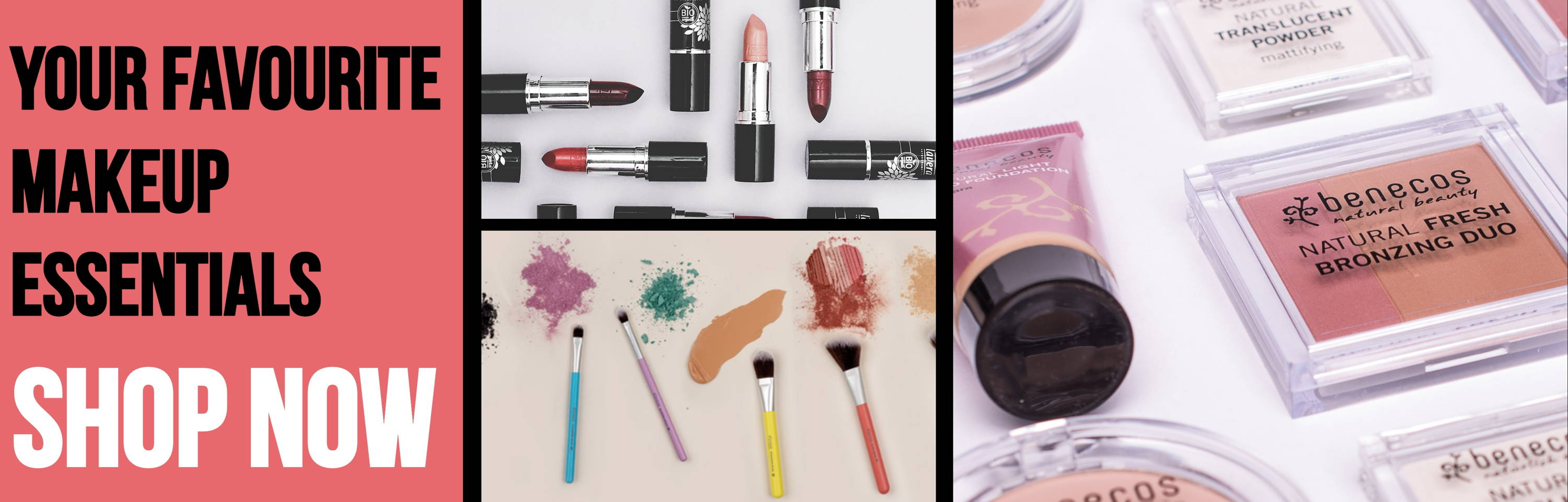 Explore our natural make up from lavera and benecos for your cruelty free beauty products!