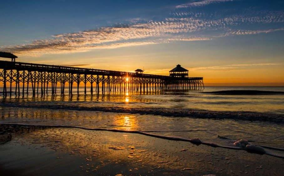 Propose at Folly Beach, South Carolina