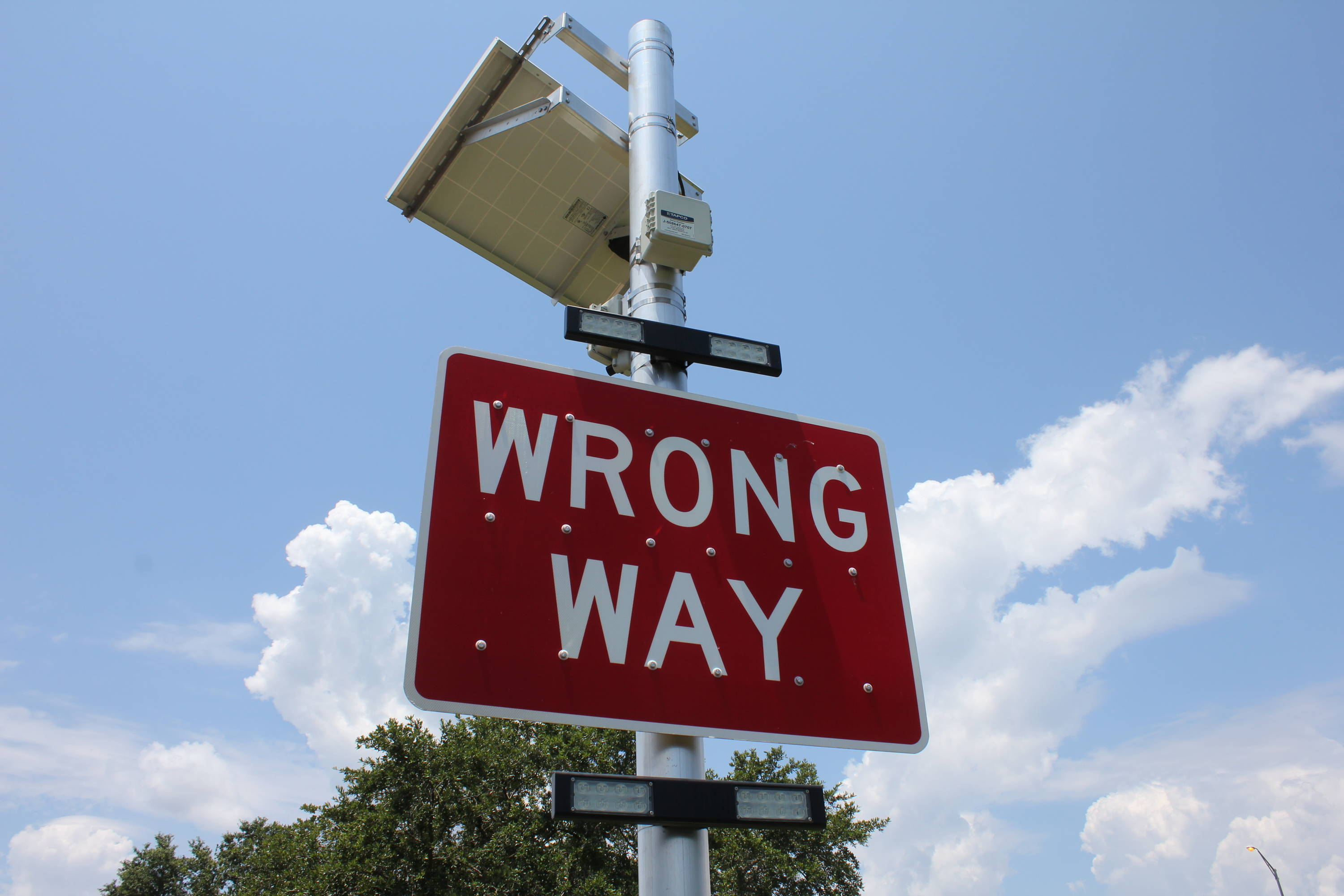 TAPCO Wrong Way Warning System
