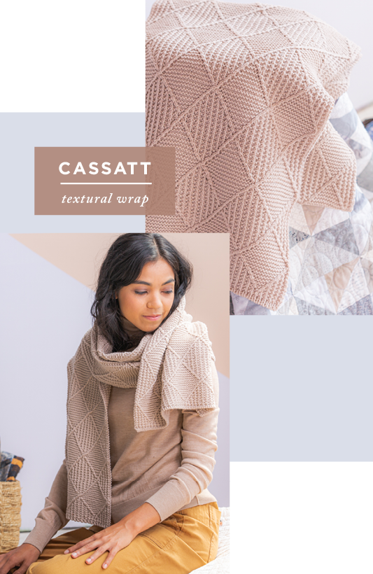 Two images showing modeled and draped views of Cassatt: textural wrap
