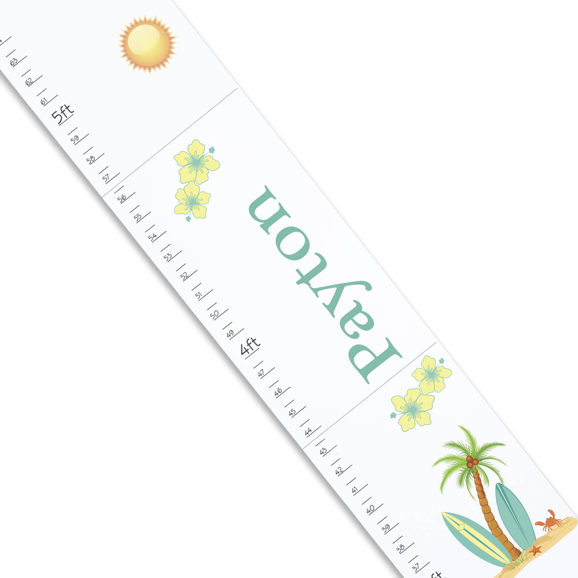 personalized surfboard growth chart