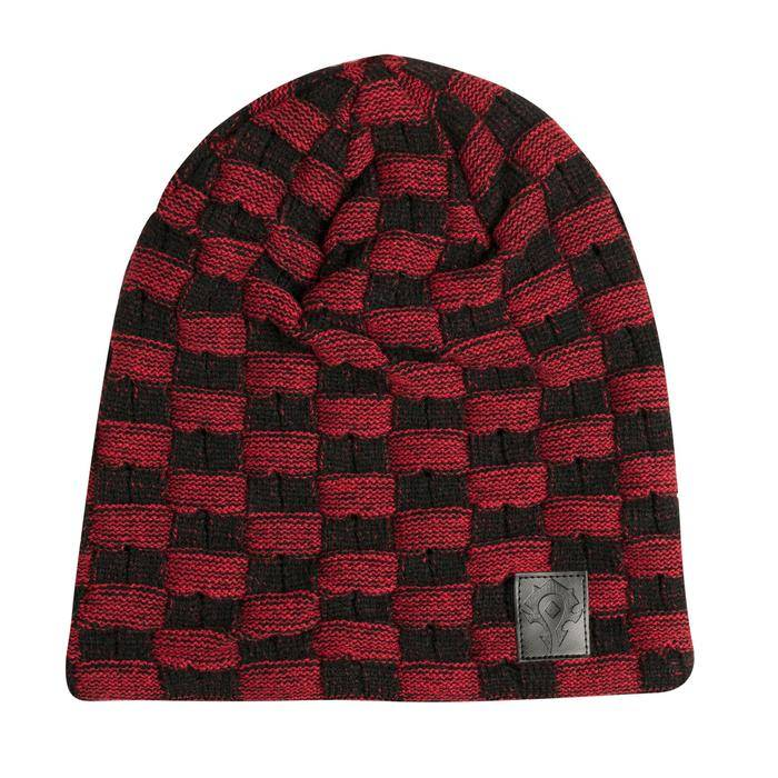 Product photo of a World Of Warcraft Horde Two Tone Slouchy Beanie