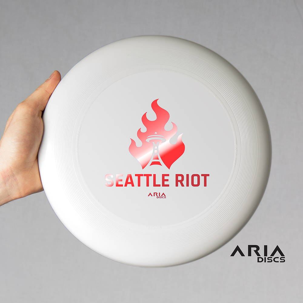 ARIA professional official ultimate flying disc for the sport commonly known as 'ultimate frisbee' seattle riot world champions