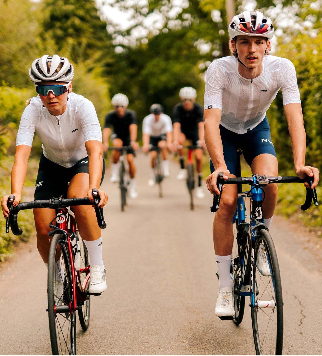 Bib Shorts. Cyclists wear NVPA.