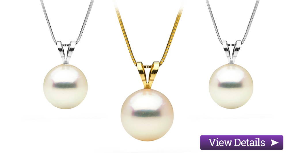 Akoya Pearl Jewelry Styles: Classic Solitaire Pendants