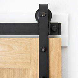 Flat Track barn door hardware by RealCraft