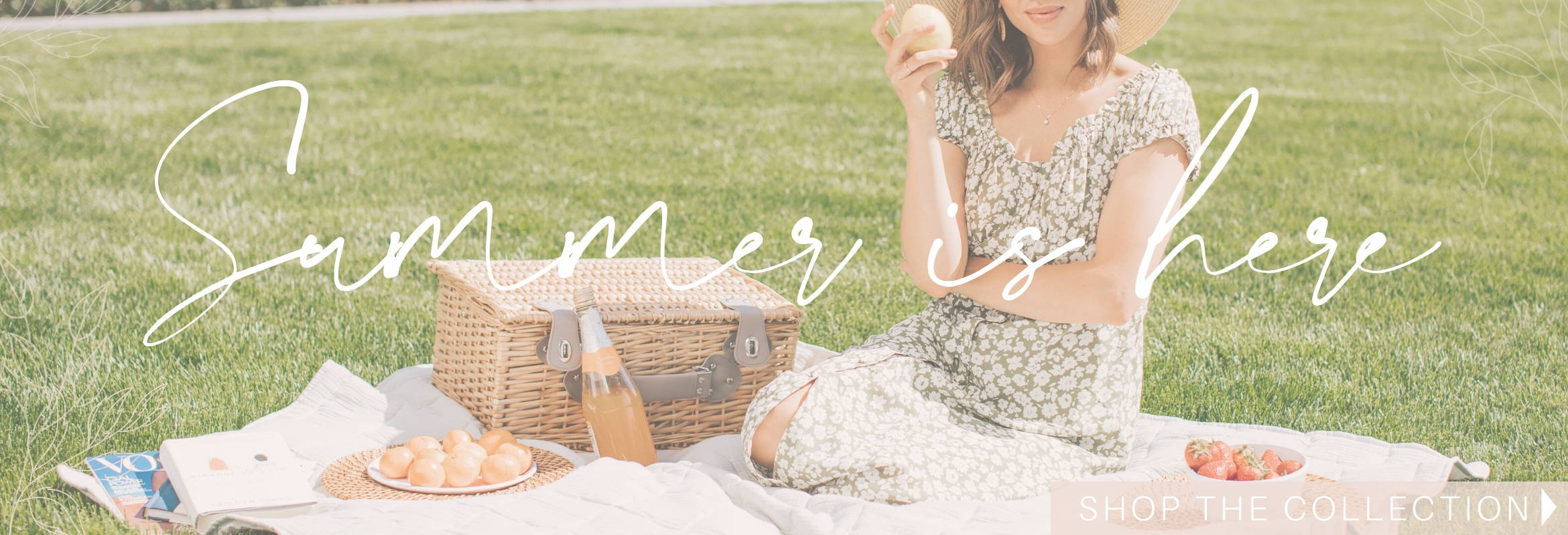Online Boutique Summer collection banner