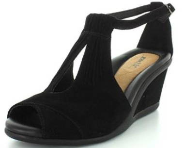 Earth Caper Suede Wedge Sandal