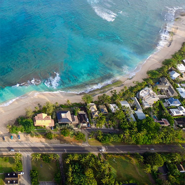 Aerial image of Oahu