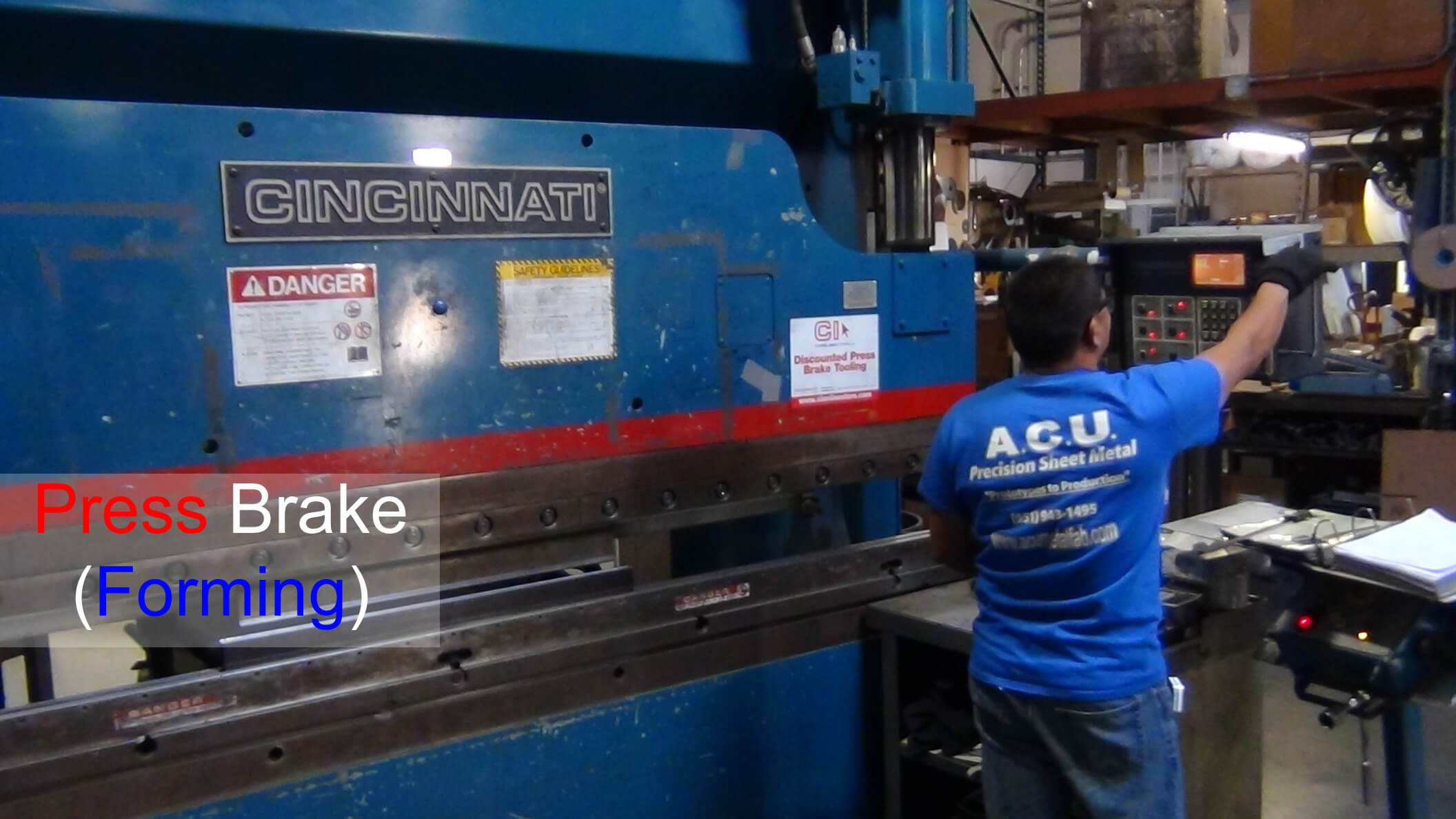 Metal forming press brake from ACU Precision Sheet Metal