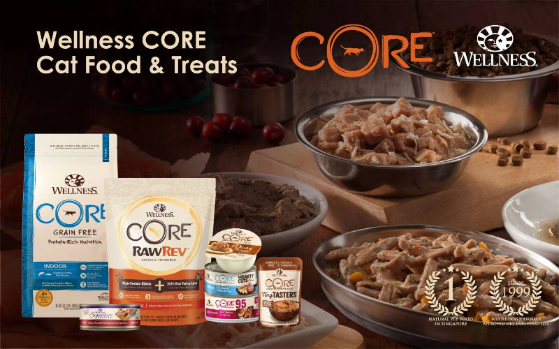 wellness core pet food and treats singapore branding banner for cats pawpy kisses pet shop