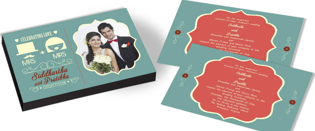 Elegant Western Wedding Invitations