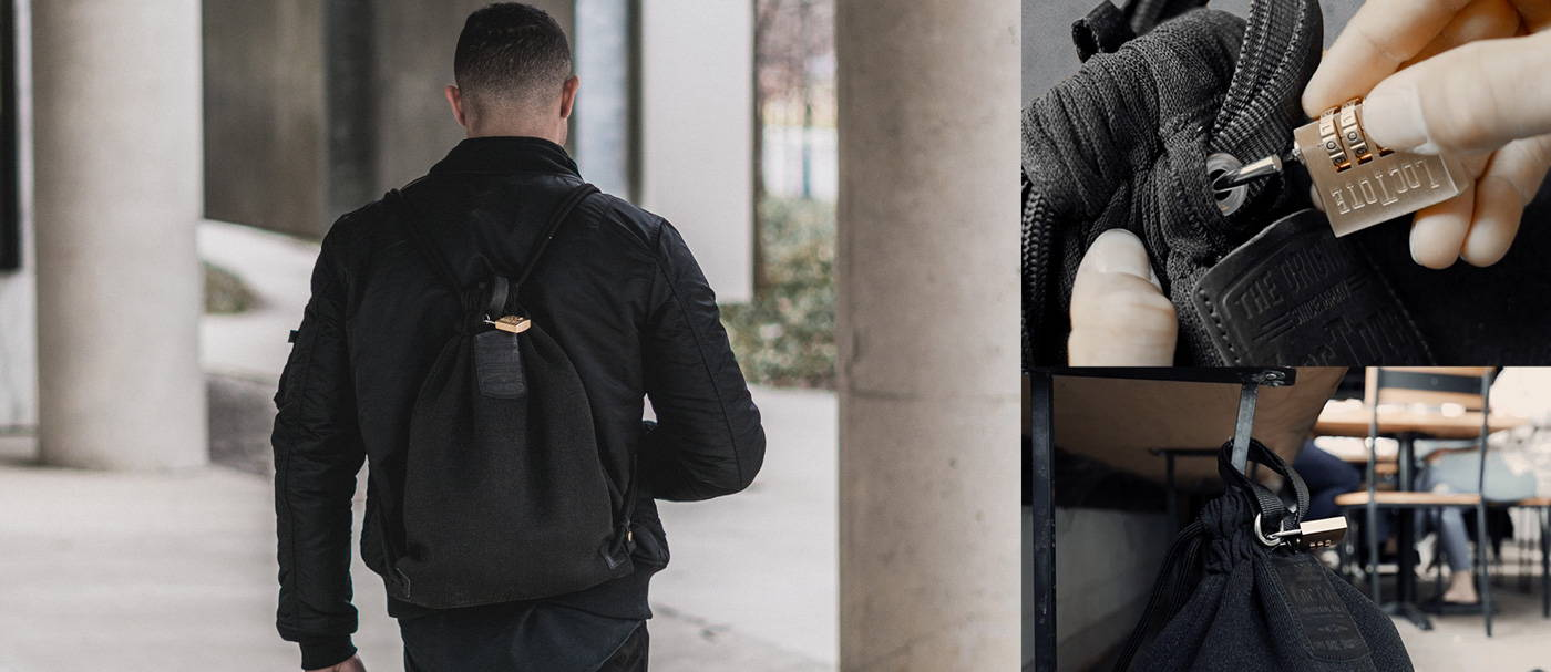 Stealth Black Flak Sack Backpack Loctote Bag