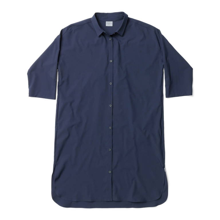 HOUDINI(フーディニ)/ルートシャツドレス/ネイビー/WOMENS