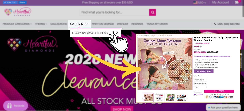 custom diamond painting website