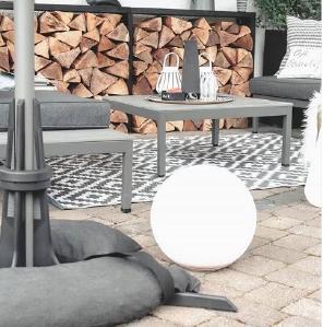 Baser Sonnenschirmständer Fliesen Garten Tisch Möbel Holz gemütlich