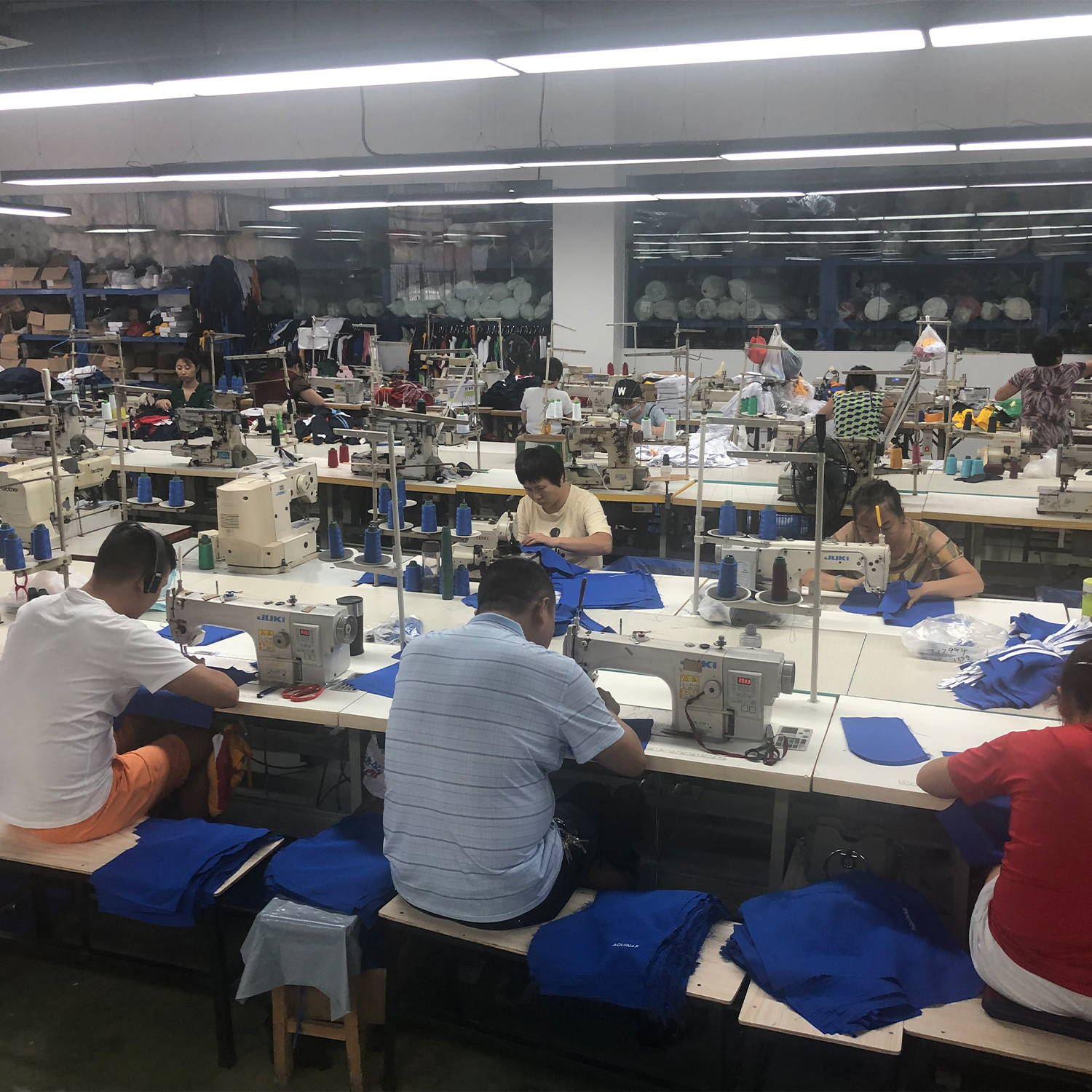 The sewing room at Talon Global
