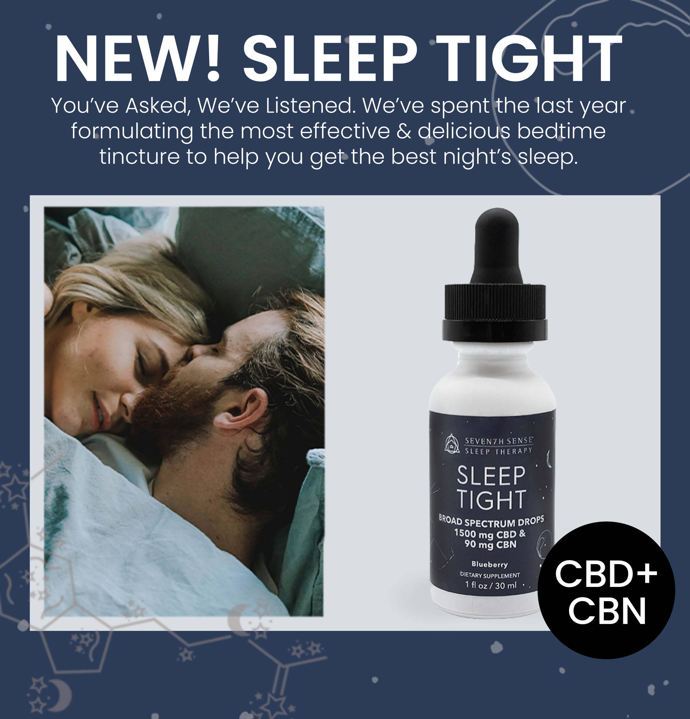 NEW! Sleep Tight. You've Asked, We've Listened. We've spent the last year  formulating the most effective & delicious bedtime  tincture to help you get the best night's sleep.