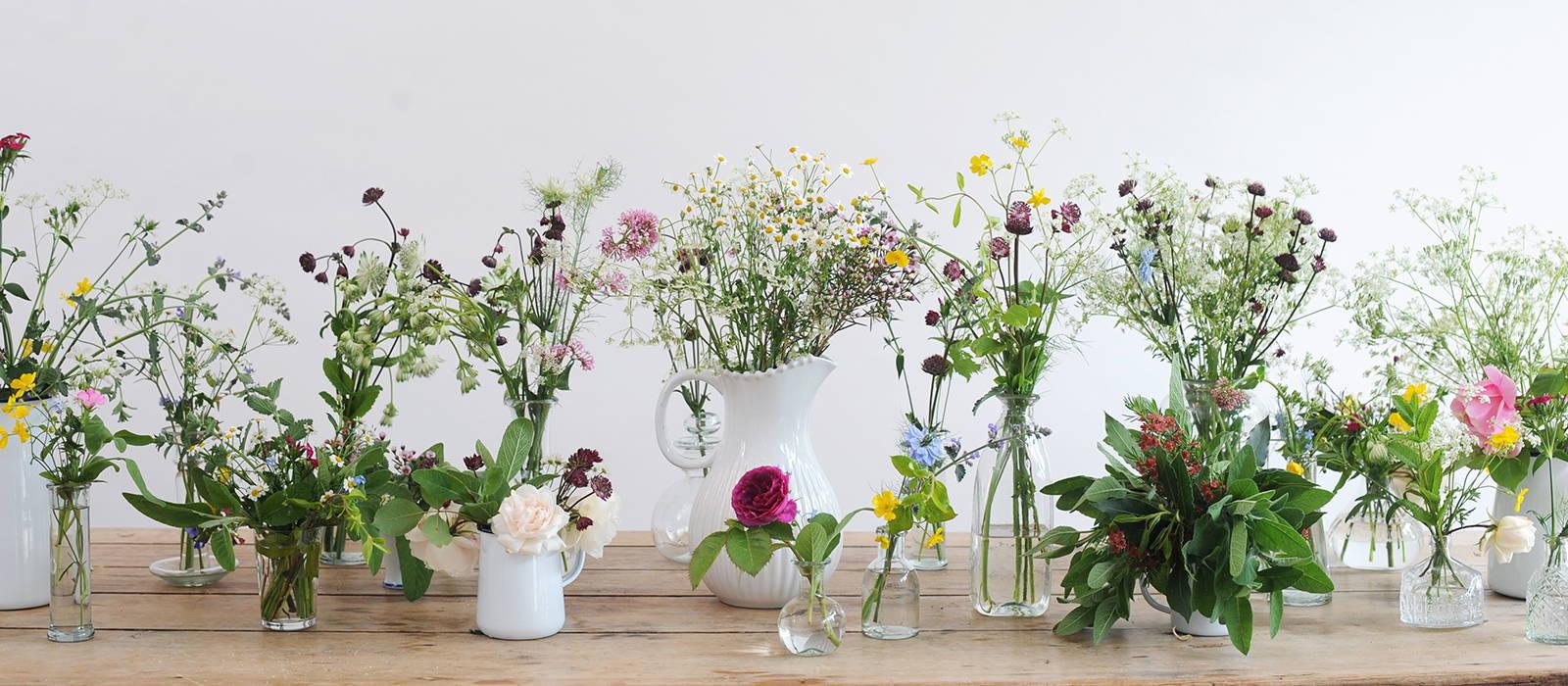 Flower display at The Hambledon