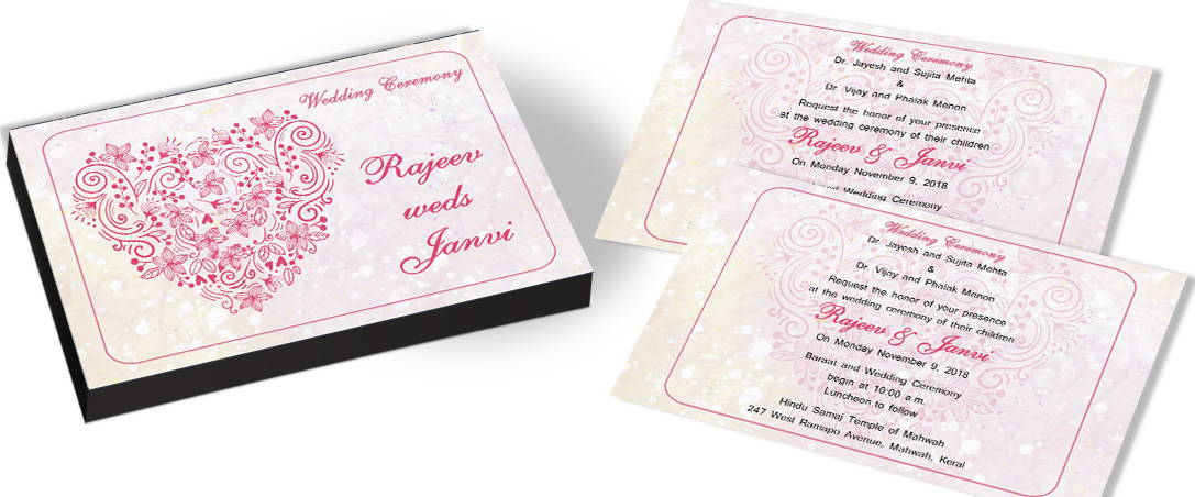 Touched by Love - Heart Theme Invite