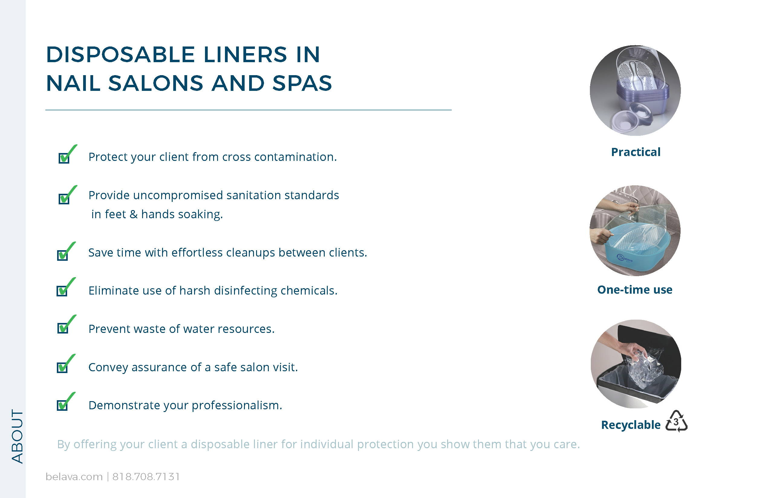 Disposable Pedicure Liners By Belava